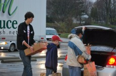 2011 Thanksgiving Grocery Giveaway, photo courtesy of Sky Caserotti