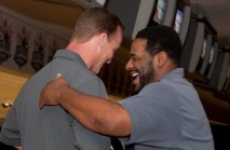 Peyton and Jerome Bettis, 2010 PeyBack Bowl
